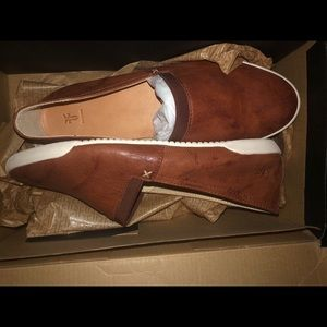 Frye 100% Leather Cognac Slip Ons